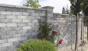 szürke-fekete castello kerítés