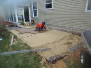 térkő burkolat lerakása házilag