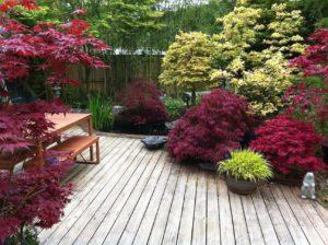 kerttervezés színei