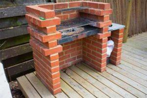 kerti grillező építése