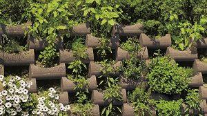 térkő ágyásszegély Flori rézsűkövekből