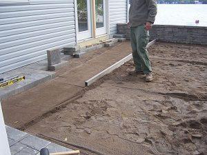 térkövezés előtti munkák