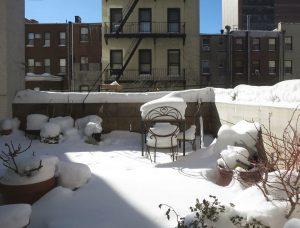 nyitott téli terasz