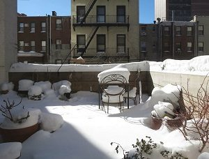 téli terasz